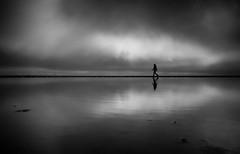 Reflection (Dan-Schneider) Tags: sea monochrome minimalism mirror mood clouds silhouette schwarzweiss blackandwhite sky light lonliness streetphotography