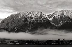 (Elena Miari) Tags: germany mountain snow snowy austria alps fog foggy mist misty top mountaintop village sleepy