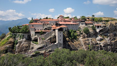 P7167556 (ernsttromp) Tags: greece olympus pen epl3 panasonic lumix 14mmf25 mirrorless mft m43 meteora monastery 16x9 2014 building architecture historical rock microfourthirds mountain hyperlink religion thessaly