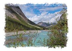 Natures Glory - Athabasca River Just South of Jasper- Alberta (Bill E2011) Tags: nature canada alberta athabasca jasper rive water beauty canon mountains rockies