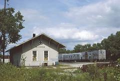 AT&SF Depot at McCook, Illinois (Chuck Zeiler) Tags: atsf depot station mccook railroad train mow chuckzeiler chz