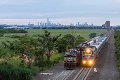 Hot Rail! (sully7302) Tags: nj transit meadowlands norfolk southern hoboken division east rutherford new york passenger freight ge emd c449w sd70acu gp40fh2 metro north express train railroad dusk transport