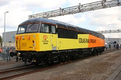Colas 56049 Old Oak Common 2nd September 2017  E1880 (focus- transport) Tags: trains old oak common open day classes 31 47 50 57 180 800 d british railways br oliver cromwell tornado colas gbfr gbrf gwr hst rail operations group railcar diesel steam great western railway high speed train gb freight