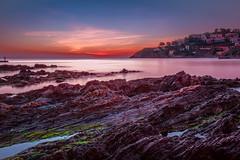 Baie de Collioure (pascalct) Tags: rochers sunrise poselongue leverdesoleil rocks collioure sea paysage landscape mer occitanie france fr