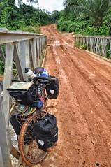 Muddy roads in rural Liberia