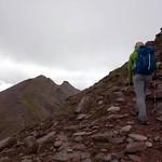Ascending Sgurr Fiona with Bidean a' Ghlas Thuil up ahead thumbnail