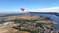 VIE-ZRH_02 (rhomboederrippel) Tags: rhomboederrippel motorola g5 plus windowseat plane september 2017 europe austria vie zrh viennatozurich swiss bombardier cs100 wing winglet aerial climb takeoff hbjbh a220100 airbus