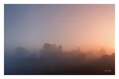 Hidden Landscape - Clun Castle (Geoff Moore UK) Tags: fog mist ruins castle hilltop morning sunrise nighttoday landsape heritage history olf oldcastle shropshire dawn adventure hiking autumn season seasonchange fall cold wet layers diffusion