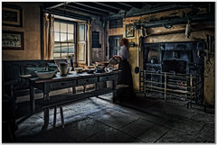 The inn with a view (Hugh Stanton) Tags: inn bar table fireplace oven gun rifle appicoftheweek