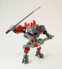 Past Protector of Iron - Swords (0nuku) Tags: bionicle lego 2015 protector villager steel iron knockoff bootleg