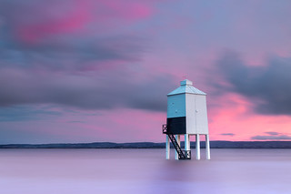 Burnham Lighthouse on Pink Sky