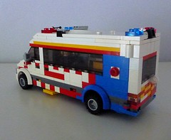 Ambulance Victoria PIPER (1) (Lonnie.96) Tags: lego model brick custom moc design ambulance victoria vic nsw tas royal melbourne hospital sprinter 2017 recent build van vehicle paramedic nurse doctor emergency service siren lights critically ill paediatric infant perinatal retrieval interior
