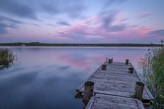 Abandoned Jetty (Peter Vestin) Tags: nikondf sigma24mmf14dghsmart siruin3204x siruik30x adobecreativecloudphotography topazlabscompletecollection herrön skattkärr karlstad värmland sweden vänern nature landscape seascape sunset jetty