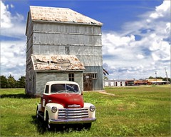 The Chevy by the Mill (A Anderson Photography, over 1.9 million views) Tags: truck mill chevy red canon