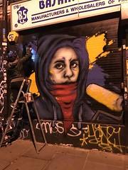 Graffiti and street art in the Brick Lane area of Shoreditch (Ian Press Photography) Tags: graffiti street art brick lane area shoreditch streetart london england artist zabou