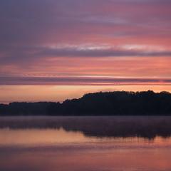 Un beau matin de septembre ** (Titole) Tags: squareformat pink sunrise sky water purple bassindetrévoix trévoix thechallengefactory