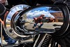 A Moment of Self-Reflection   Harley-Davidson Motorcycle (steveartist) Tags: people fellows men guys oldguys stevefrenkel reflections chrome motorcycles harleydavidson chromepipes closeupphotos selfies selfportraits skies clouds