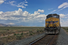 UP 6301 is DPU of East Bound with SD70AH 8885 in siding at Heist Utah (swissuki) Tags: unionpacific up up6301 ut utah heist ac44cw