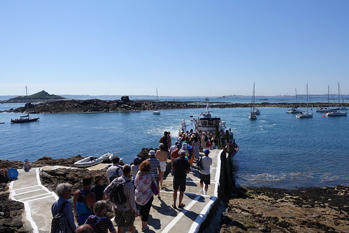 Waiting for the ferry from Herm to St Peter Port, Guernsey