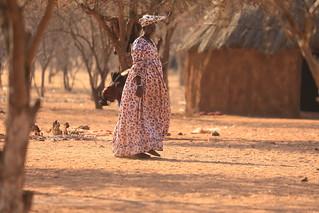 Herero Woman Himba Village Kamanjab Damaraland Namibia South West Africa