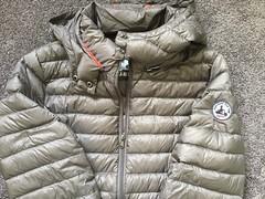 JOTT - donwcoat front detail (ShinyNylonFan) Tags: jott wintercoat downcoat silver zipper