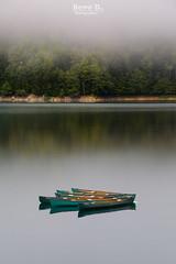 Lac de Bious-Artigues (Hervé D.) Tags: canoe lac lake biousartigues bious brume ossau pyrénées pirineos
