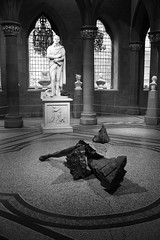 'Black Burns' (2) (louys:) Tags: douglasgordon blackburns scottishnationalportraitgallery robertburns sculpture publicart fuji x100t monochrome blackandwhite