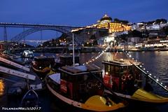 Porto (Yolanda Miel) Tags: porto douro night river summer dock turist light boat riverboat vilanovadegaia bridge ponteluis1 pontlouis1er yolandamiel