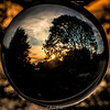 Sunset through the round window (Eiona R. [back in a bit]) Tags: wfc refelections sunset crystalball