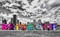 Brisbane (SteffBoe) Tags: coloursplash mixedmonochrome riverbank queensland australia worldexpo brisbane southbank