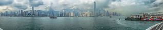 The full View from Kowloon with Star Ferry Pier - Hongkong 40/188