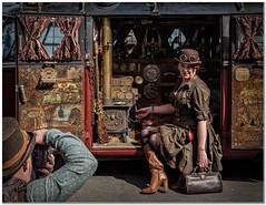 Midwifery Steampunk style (Hugh Stanton) Tags: vw steampunk camera microbus appicoftheweek