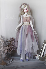 Smooth Mirage (AyuAna) Tags: bjd ball jointed doll dollfie ayuana design handmade ooak clothing clothes dress set fantasy romantic style little monica littlemonica whiteskin