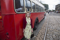 IMG_0045 - Laura (David-Hall) Tags: crich 1940s woman laura 2017 bus singer