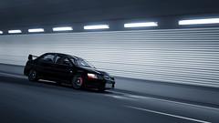 Black Evo (RaY29rus) Tags: mitsubishi lancer evolution granturismo6 tunnel speed