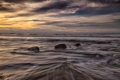 Sunset LE (HardBreakKid) Tags: landscape brunei muara meragang sunset water rocks sky clouds long exposure bruneimuaradistrict
