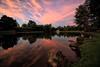 August Sunset (dorameulman) Tags: sunset august summer landscapephotography landscape clouds contrails reflections lake heatherlock inmybackyard gastonia northcarolina us haiku dorameulman canon7dmark11 canon