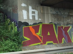 SAK (mkorsakov) Tags: dortmund marten autobahn a45 graffiti bunt colored wand wall oldschool sak rot red