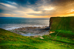 Nash Point (meccabolix) Tags: wales nash point a7rii tamron 1530 28 f28 sony outdoor fe green grass cliffs sea sky