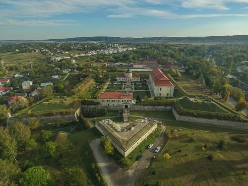 Aerial of Zolochiv Castle