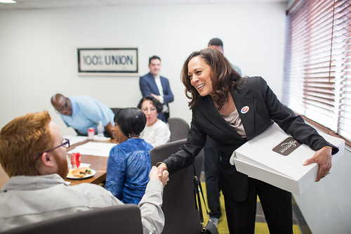 Senator-elect Harris on Election Day