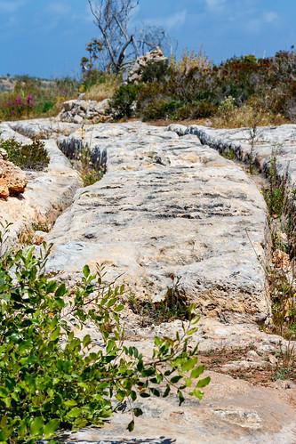 Следы древних повозок