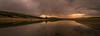 Reflejos. (Amparo Hervella) Tags: embalsedepedrezuela comunidaddemadrid españa spain agua reflejo nube atardecer puesta de sol puestadesol color largaexposición d7000 nikon nikond7000 comunidadespañola naturaleza árbol montaña panorámica