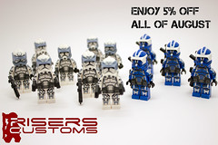 RisersCustoms 5% Off (Risers Customs) Tags: lego star wars 104th battalion custom clone trooper pad printed woffle sinker comet boost wolfpack havoc armour troopers commaner thorn hardcase 501st deviss 442nd siege decals toy atrt atte