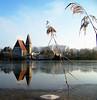 Winterliche Kälte (Amir Guso) Tags: church landscape landschaft lake see winter sky frozen specland