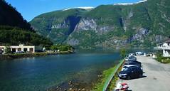 Aurlandsvangen Norway (Eddie Crutchley) Tags: europe norway cruise2017norwayicelandireland aurland landscape beauty blueskies river mountain sunlight simplysuperb greatphotographers
