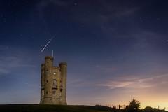Perseid meteor over Broadway Tower, Worcestershire - 0200am (Geoff Moore UK) Tags: perseid meteor perseidmeteorshower meteorshower worcestershire worcester broadway evesham