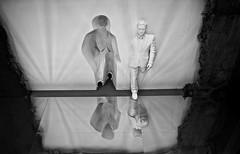 Step out for liberation (ahmBerlin) Tags: art kunst nordart sw bw schwarzweis man reflection spiegelung