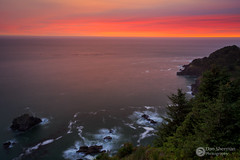 Cape Foulweather.jpg (Dan Sherman) Tags: oregoncoast oregon sunset pacificocean pacificcoast waves sky ocean pacificnorthwest coast pacific clouds pnw summer ruggedcoast bluff rockycoast