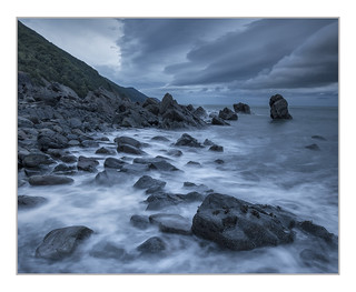 Incoming Storm. First Rocks, Porlock
